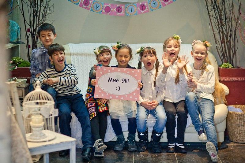 Детский праздник в студии Букетио.